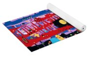 The Bright Red Ladder To Success Yoga Mat