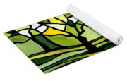 The Emerald Glass Forest Yoga Mat