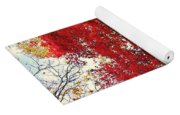 The Painted Leaves Yoga Mat