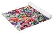 The Rainbow Flowers Yoga Mat