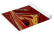 The Red Palace In Abstract Yoga Mat