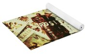 The Vintage Postage Card Yoga Mat