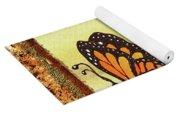 Three Monarch Butterflies Yoga Mat