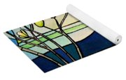 Tiffany And Blossoms Stained Glass Yoga Mat