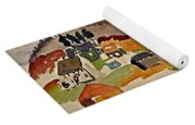 Train Whistle Stop Village  Yoga Mat