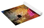 Travel Exotic Woman On Ramparts Mehrangarh Fort India Rajasthan 1h Yoga Mat