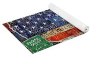 Travel The Usa One Plate At A Time License Plate Art By Design Turnpike Yoga Mat