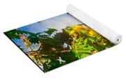 Tree Branch With Leaves In Blue Sky Yoga Mat