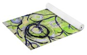 Tree Of Life Spring Abstract Tree Painting  Yoga Mat