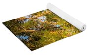 Tree With V Shaped Branches Yoga Mat