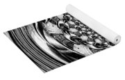 Tunnel Vision-black And White Yoga Mat