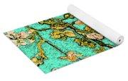 Turquoise Blossom Yoga Mat