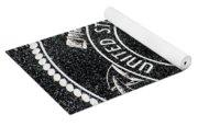 United States Coast Guard Emblem Polished Granite Yoga Mat