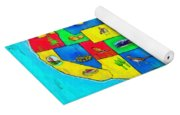 Us Map With Theme  - Free Style -  - Pa Yoga Mat