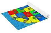 Us Map With Theme  - Van Gogh Style -  - Da Yoga Mat