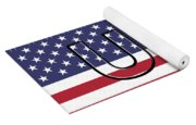 Usa On The American Flag Yoga Mat