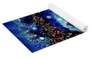 Van Gogh's Starry Night Wreath Yoga Mat