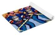 Verdun Hockey Rink Paintings Edmonton Oilers Vs Hometown Habs Quebec Hockey Art Carole Spandau       Yoga Mat
