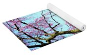 View Of The Lake In Spring Yoga Mat