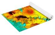 Vincent's Sunflowers 4 Yoga Mat