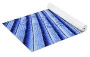 Vintage Scallop Shell Blue Yoga Mat