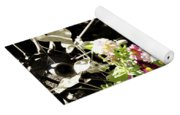 Wagon Wheel And Flowers Yoga Mat