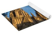 Warm Sun Glow On The Cathedral Of Barcelona Yoga Mat