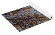 Washington Monument With Cherry Blossoms Yoga Mat