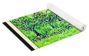Water Color Of Apple Orchard Farm Yoga Mat
