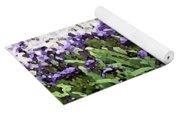 Watercolor Iris  Yoga Mat
