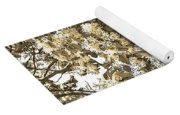 Waxleaf Privet Blooms On A Sunny Day In Sepia Tones Yoga Mat