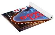 Welcome To Downtown Las Vegas Sign Slotzilla Yoga Mat