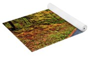 West Virginia Curves - In A Yellow Wood - Paint Yoga Mat