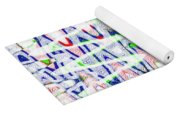 White And Blue Abstract Yoga Mat