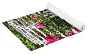 White Arbor In A Garden Yoga Mat