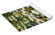 White Coneflower Field Yoga Mat