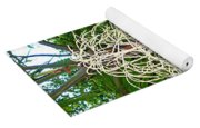 White Confetti Palm Yoga Mat