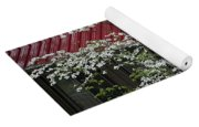 White Dogwood In The Rain Yoga Mat