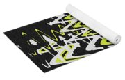 White Yellow On Black Yoga Mat