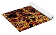 Wild Sunflower Abstract Yoga Mat