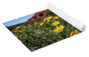 Wildflowers And Butte Yoga Mat