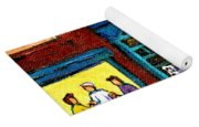 Wilensky's Counter With School Bus Montreal Street Scene Yoga Mat