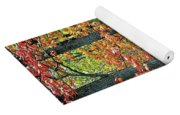 Windy Day Autumn Colors Yoga Mat