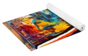 Wine Lovers Abstract Yoga Mat
