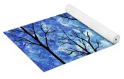 Winter In The Woods Abstract Yoga Mat