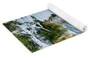 Winter River Reflections - Yellowstone Yoga Mat