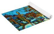 Winter  Walk In The City Yoga Mat