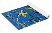 Yellow Blue Yoga Mat