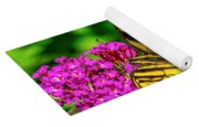 Yellow Butterfly In The Garden Yoga Mat