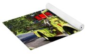 Yellow Fire Truck Yoga Mat